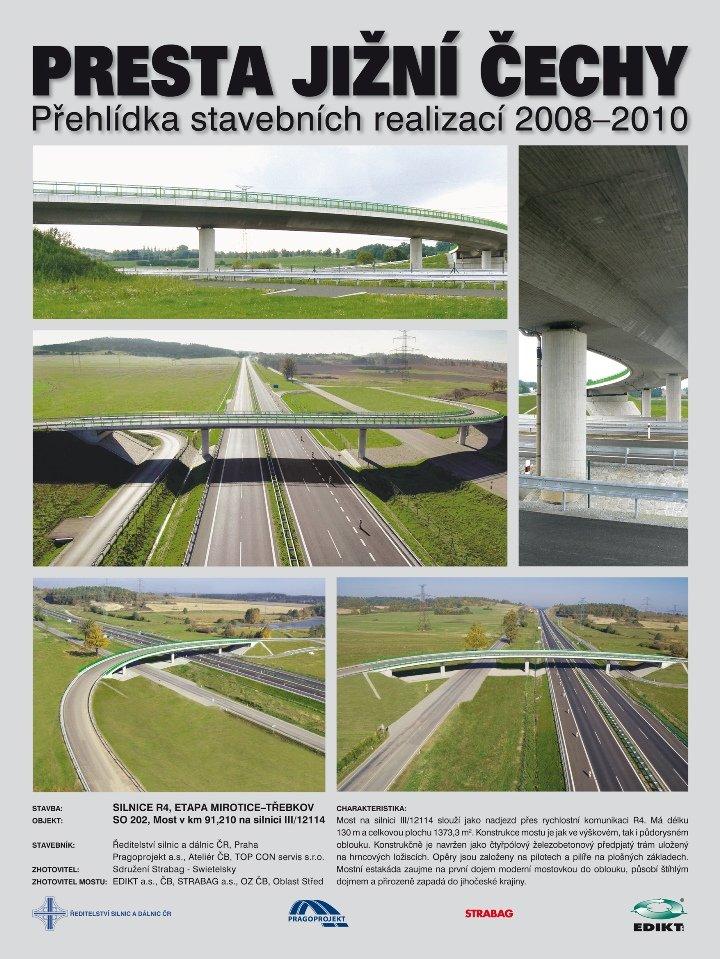 Most v km 91,210 na sil. III/12114 nad silnicí R4, Mirotice - Třebkov