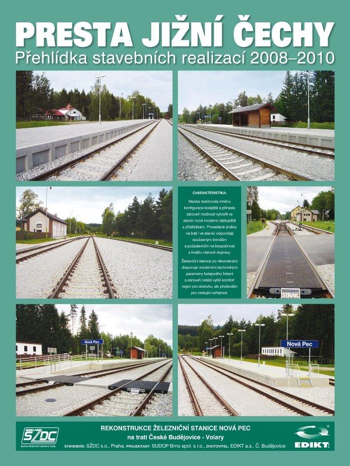 Rekonstrukce železniční stanice Nová Pec na trati České Budějovice - Volary