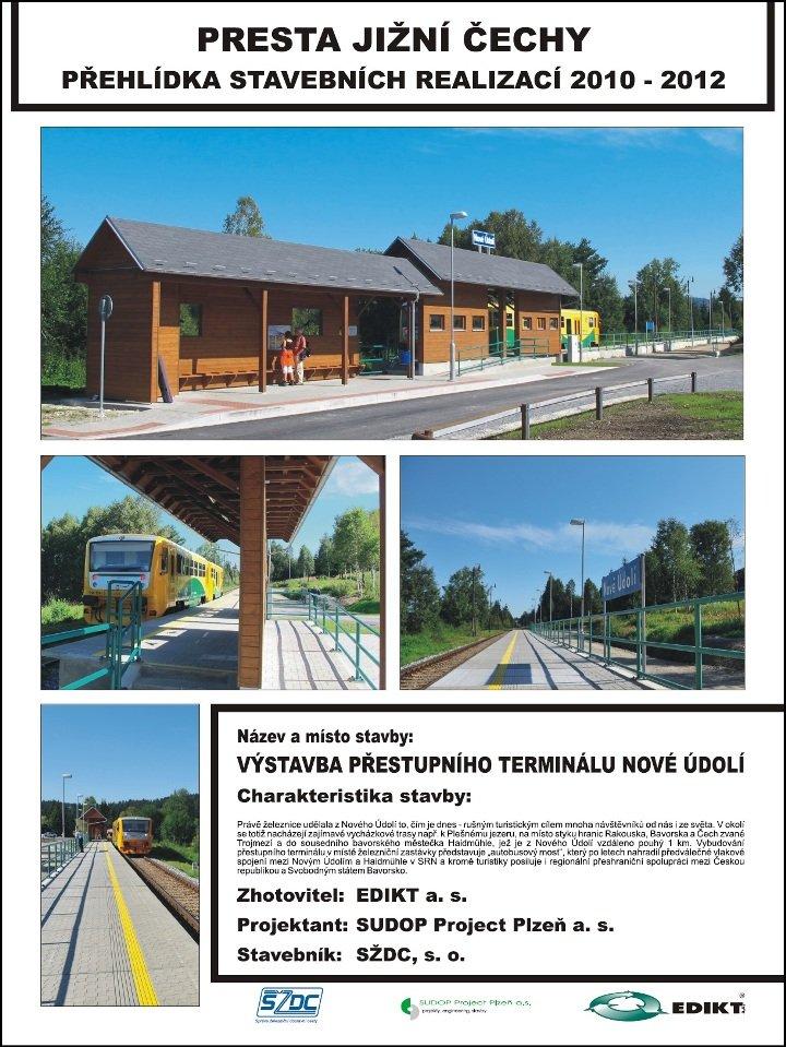 Výstavba přestupního terminálu Nové Údolí