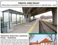 Výstavba železniční zastávky Písek - Dobešice