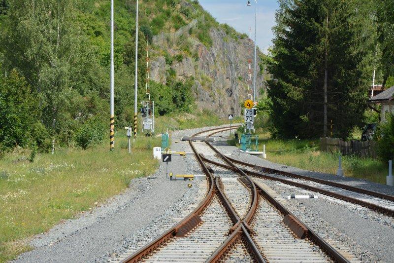 Rekonstrukce železničního svršku Plasy - Kaznějov