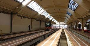 Rekonstrukce podpor kolejí (kozlíků) ve vozovně Pankrác