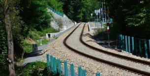 Zvýšení traťové rychlosti v km 26,505 - 29,881 trati Beroun - Rakovník