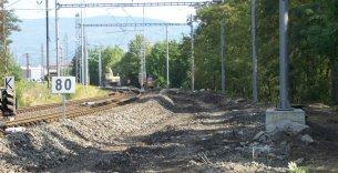 Rekonstrukce železničního svršku a TV v km 17,200 – 18,000 trati Ústí nad Labem – Most